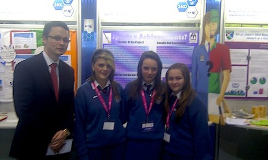 Young Scientists Students from Desmond College at the RDS