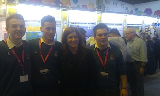 Desmond College participants at the Young Scientist and Technology Exhibition / Competition January 2013