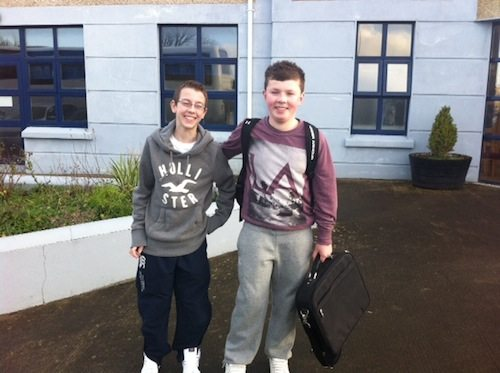 Students from Desmond College Newcastle West going to the Young Scientists Competition 2013 in Dublin