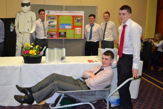Desmond College Student Enterprise Award 2013 competitors : self-levelling wheelbarrow