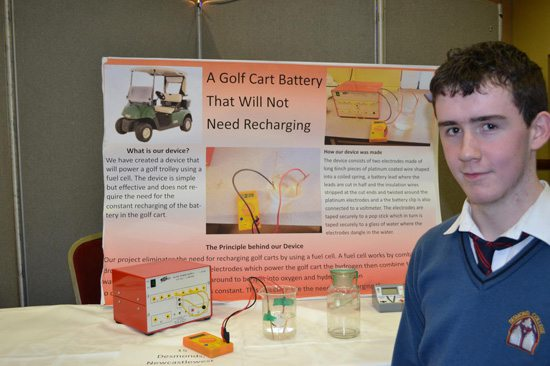 Desmond College Student Enterprise Award 2013 competitors : no charge golf cart battery