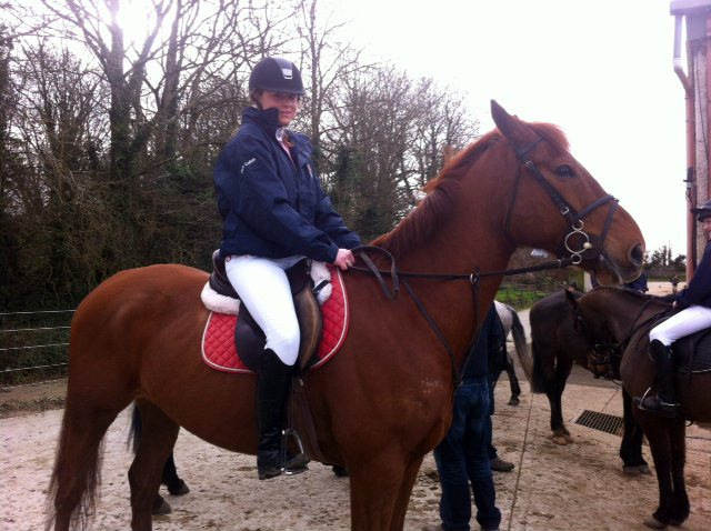 Inter-schools Equestrian Team competing in competition in Clonshire Adare