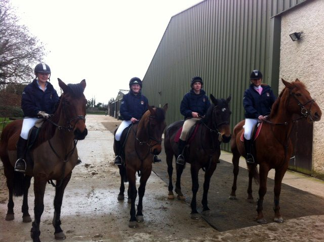 Horse Riding Team competing in Inter-schools competition in Clonshire Adare