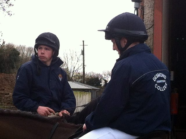 Desmond College Equestrian Team competing in the Inter-schools Competition