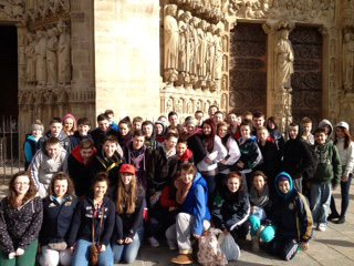 Desmond College Students on their Parisian Trip 2013