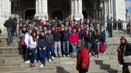 Desmond College Students on Paris Tour 2013