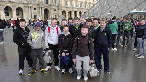 Desmond COllege students at the Louvre Paris on their School Trip 2013
