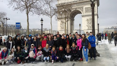 Desmond College students visiting the Arc de Triomphe on their 2013 Paris Tour