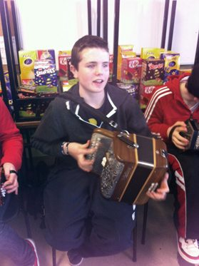 Musician at the First Year 2013 Ceili