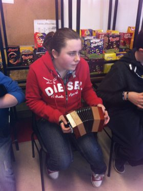 Musician at the First Year Ceili