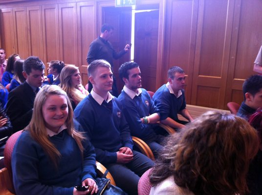 Desmond College Students at Business Partnership Presentation Ceremony 2013