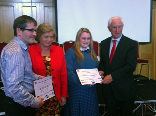 Desmond College Students with Minister Fitzgerald 2013
