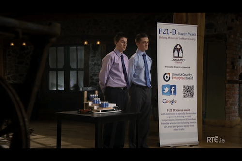 2013: F21D, the Screen wash Product, by Desmond College Students, on the Junior Dragons' Den