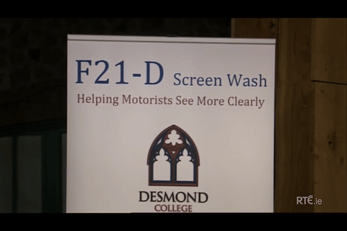F21D - Screen Wash Product Competing on RTE's Junior Dragons' Den 2013