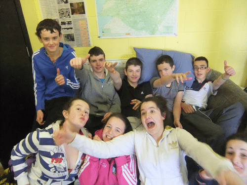 Fun on the Desmond College First Year Trip to the Burren