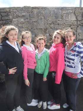 Group of Desmond College First Year Students on Trip to Burren