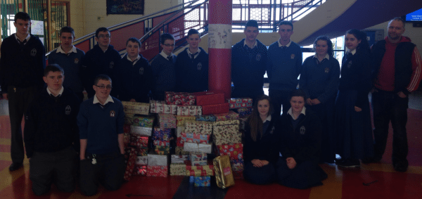ShoeBox Appeal : Desmond College Lead by Rang Deirdre for Christmas 2013
