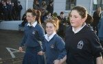Desmond College's students creating awareness of SADS campaign by dancing the siege of ennis at the launch