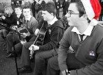 Desmond College Trad Group provide the music for the Siege of Ennis at the TY SADS campaign launch