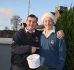 Students ready to go out collecting in December 2013, in aid of the SADS campaign run by the Transition Year Students