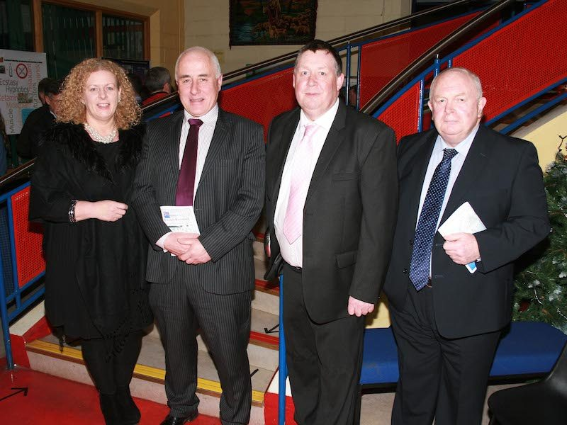 Desmond College BT Young Scientists Past and Present Jan 2014: Pictured with Principal Vourneen Gavin Barry