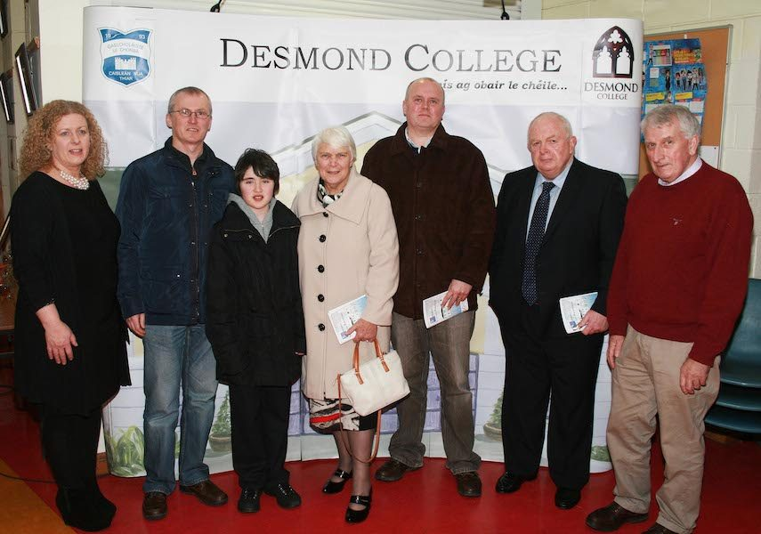 Desmond College BT Young Scientists Past and Present Jan 2014: Greeted by Principal Vourneen Gavin Barry