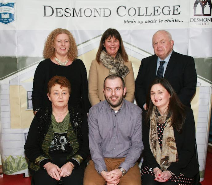 Desmond College BT Young Scientists Past and Present Jan 2014: Pictured with Principal Vourneen Gavin Barry and Deputy Principal Elizabeth Cregan