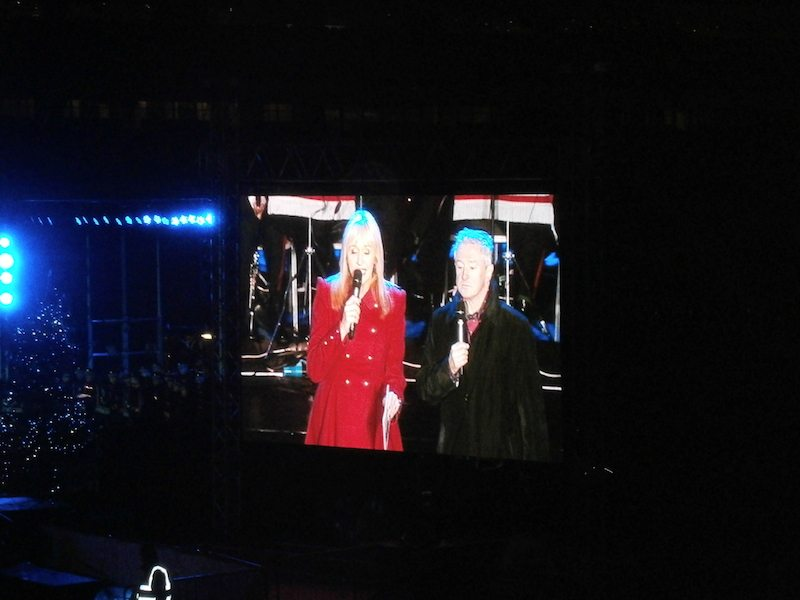 Miriam O'Callaghan and Louis Walsh at Stars, Choirs and Carols