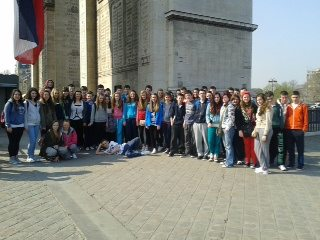 Students from Desmond College in Paris 2014