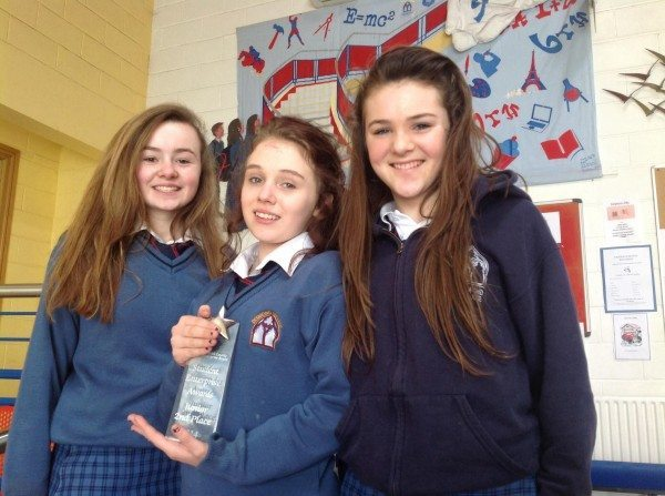 2nd place in the junior section of the student enterprise awards for their project direct eyedropper