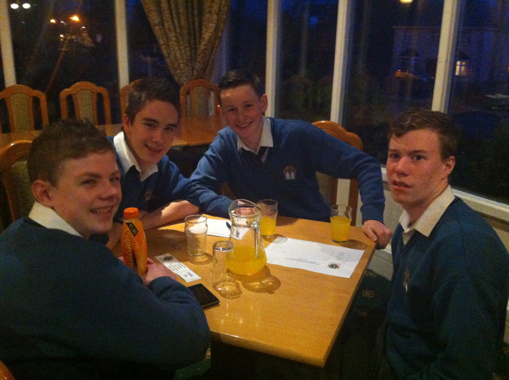 Desmond College Students at the Lyons Quiz Night 2014