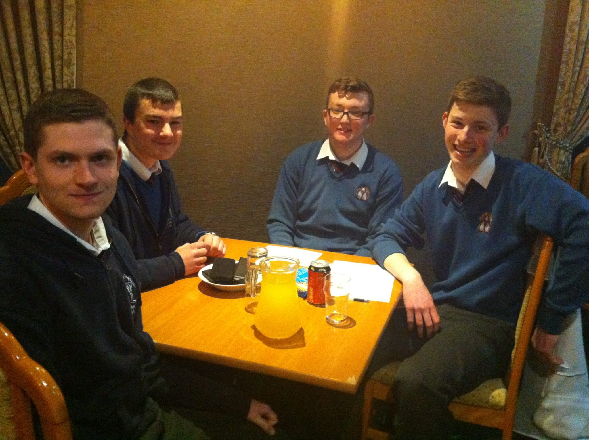 Desmond College Students Participating in the Lions Club Schools Quiz Night on 27th March 2014