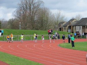 Limerick and Clare ETB Sports Day Relay Changeover