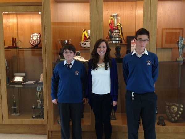 Desmond College Students and their teacher: invited participants to the Junior Irish Maths Competition