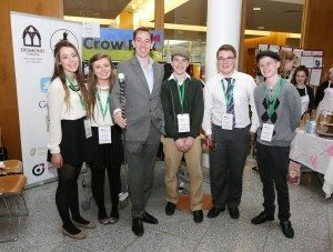 2014 May: Junior Achivement Awards: Transition Year Students from Desmond College meet RTÉ's Ryan Tubridy