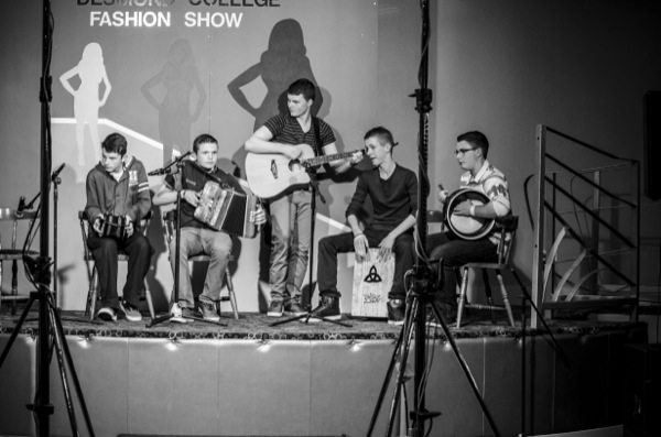 Desmond College Staff and Students modelling at the Annual Fashion Show 2014
