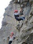 Desmond College Students Climbing on Trip to Burren 2014