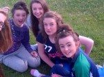 Students from Desmond College having fun on their Trip to the Burren 2014