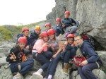 Rockclimbing Desmond College Students on their trip to the Burren