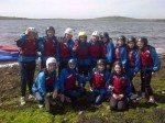 Desmond College students going kayaking in the Burren 2014