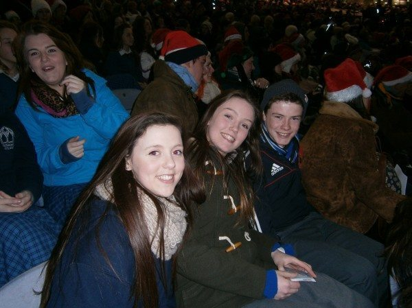 Students enjoying the performances at the 2014 All Ireland Talent Search Show Finals featuring the Draiocht, a trad band from Desmond College Newcastlewest Limerick
