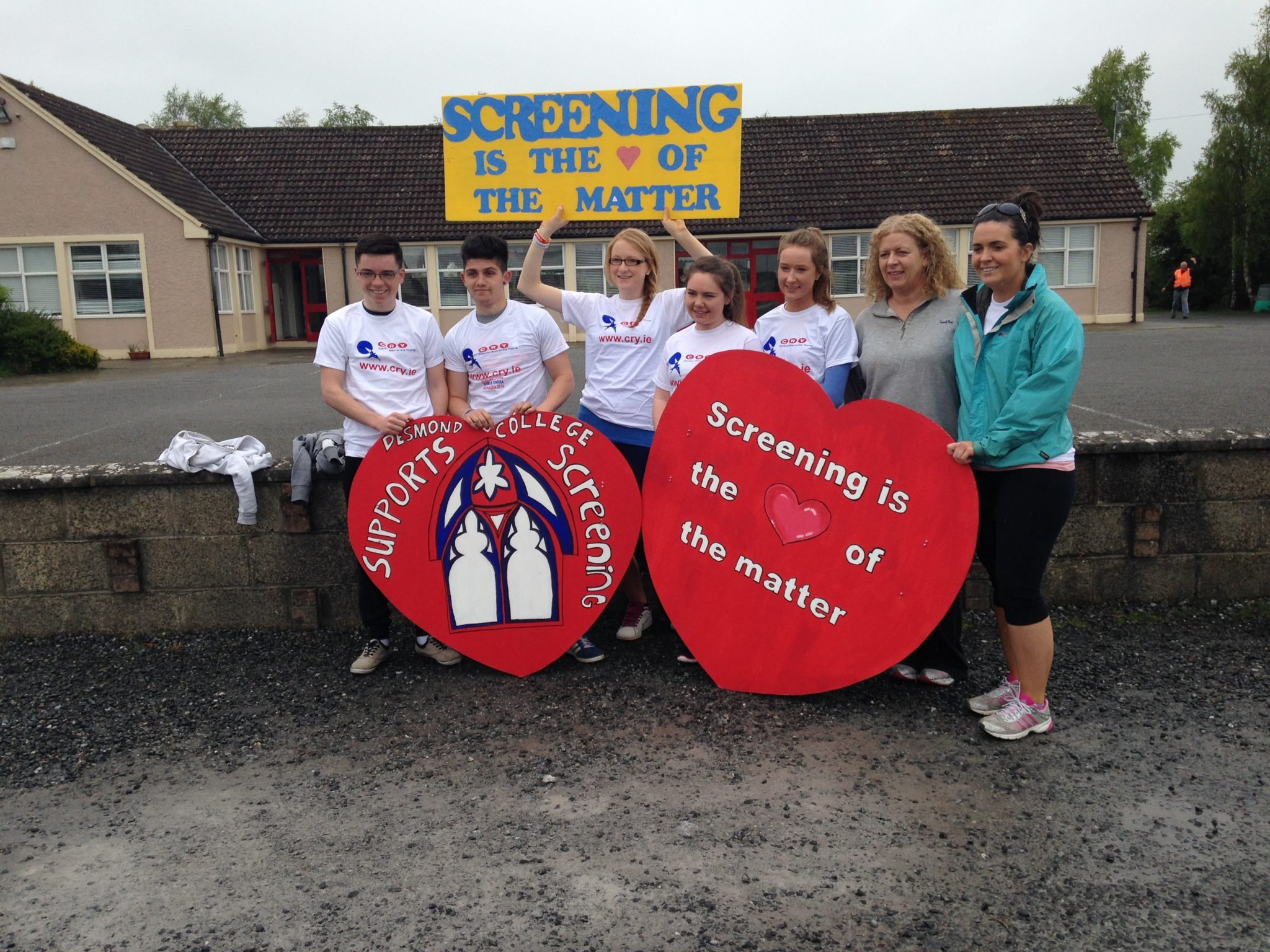Desmond College Students ready to go! For the Newcastlwest CRY Walk/Run May 2014