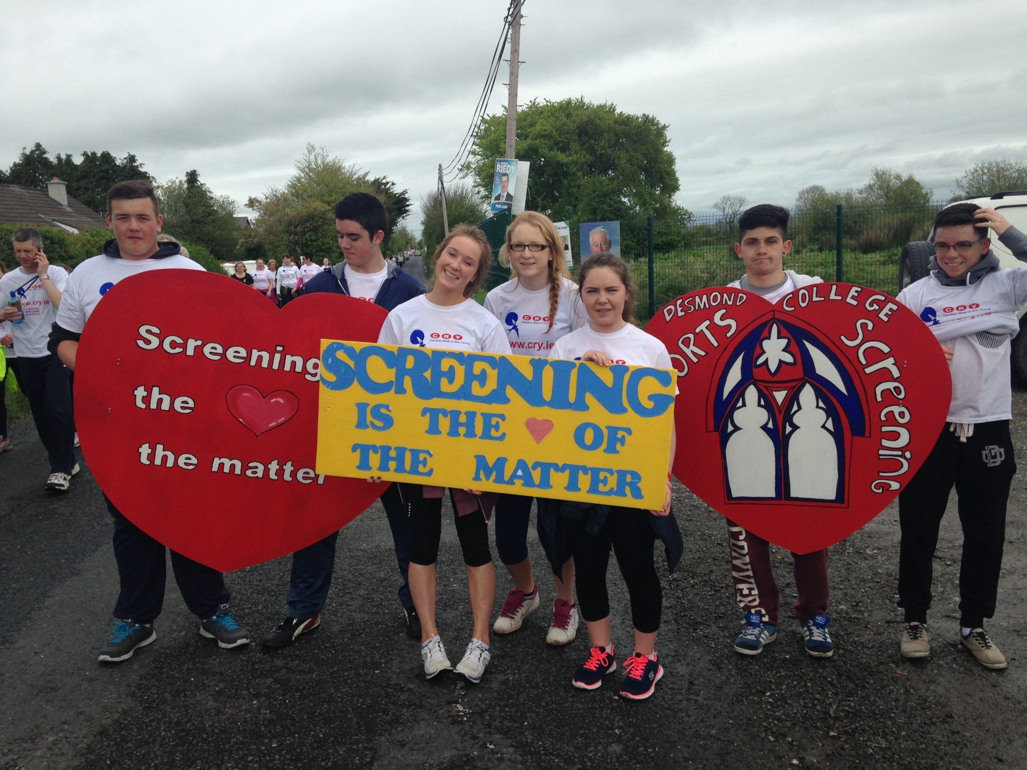 Ready to start walking and running in the CRY walk/run May 2014