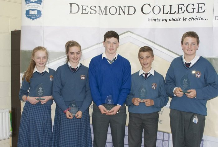 Desmond College Students : 1st Year and 2nd Year Awards 2014