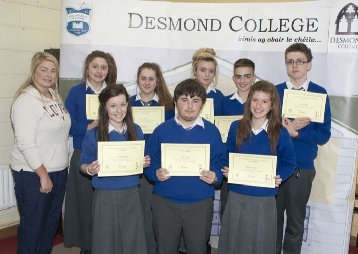 Desmond College Students Awards 2014 : 1st year and 2nd years