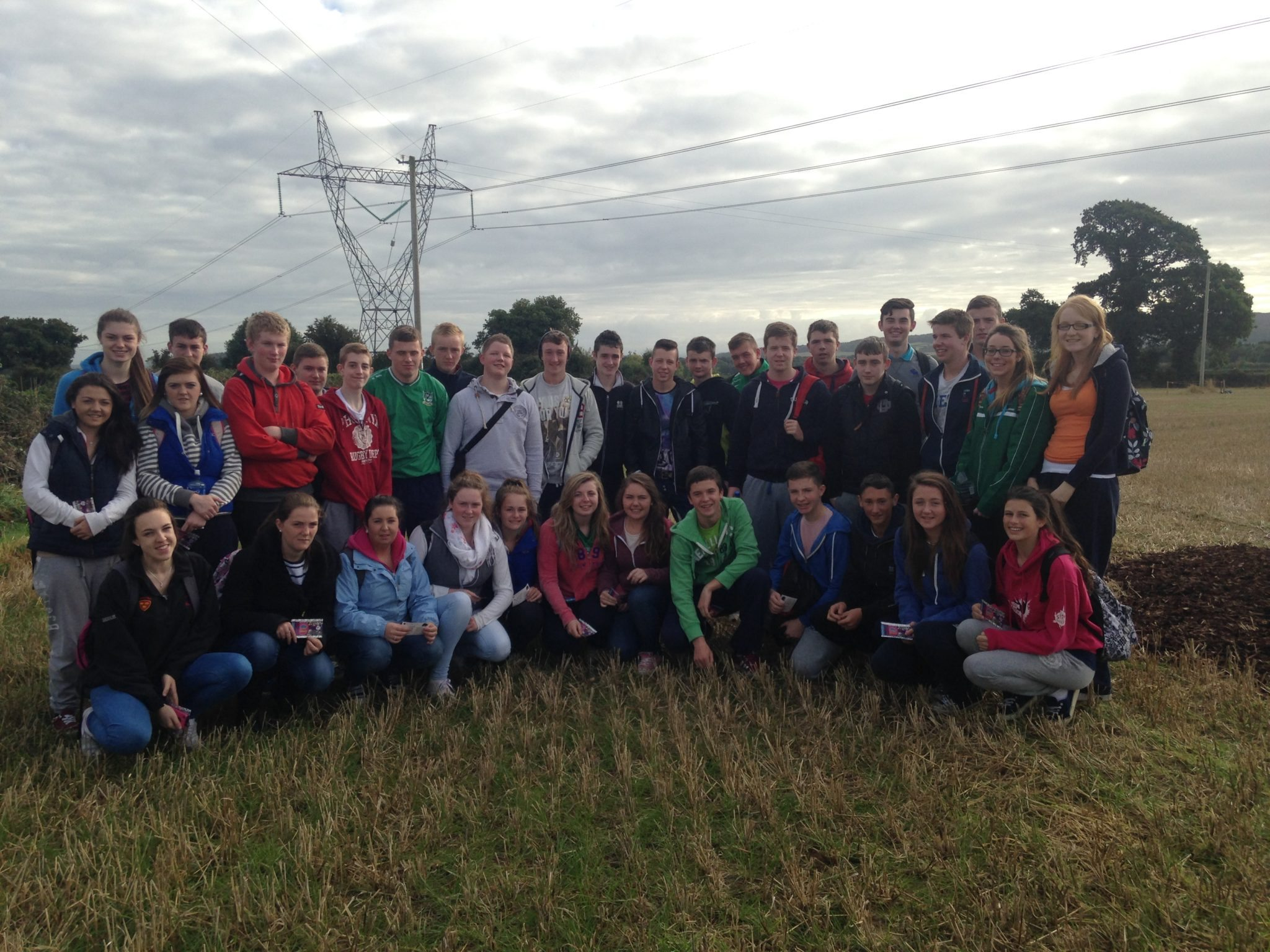 Desmond College Students at the Ploughing Championship 2014