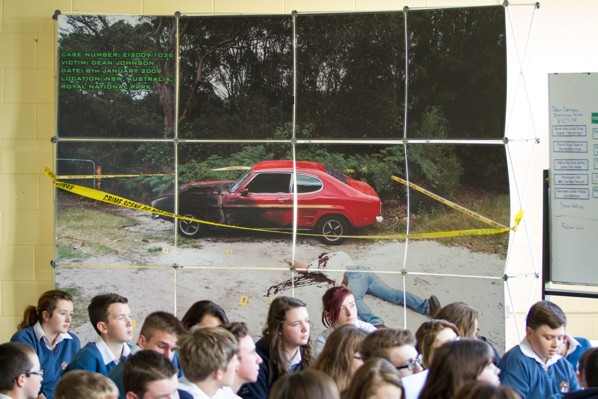Desmond College Students participating in Forensic Science Day