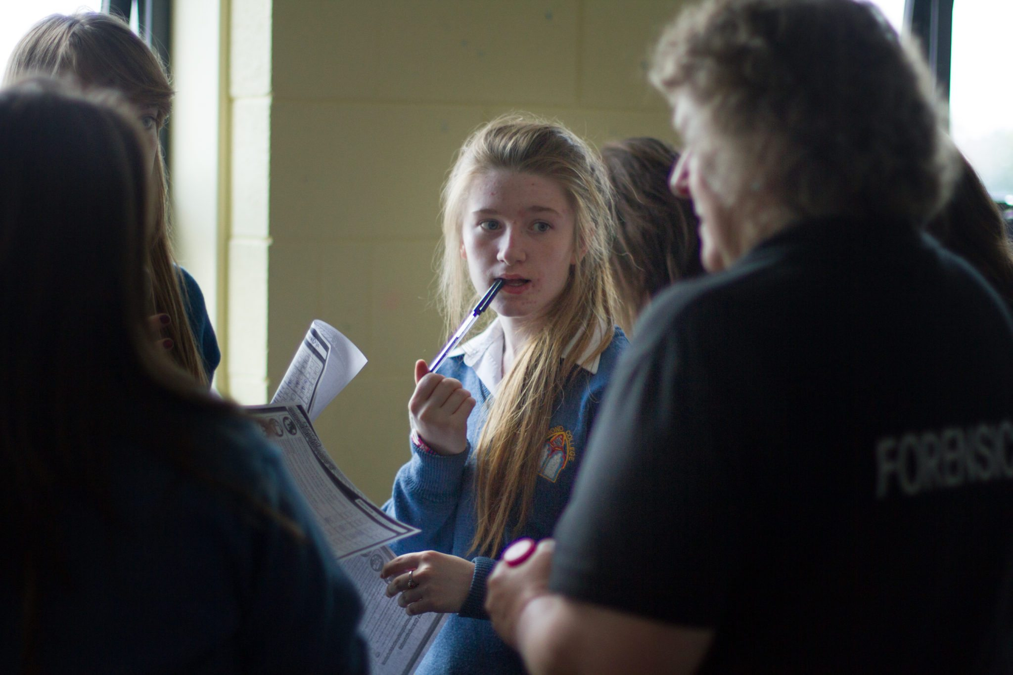 Desmond College Students learning about Forensics at the Desmond College Forensic Science Day Oct 2014