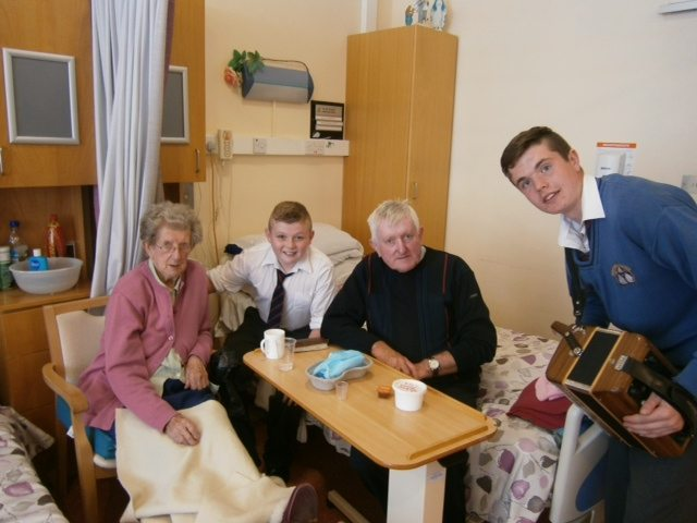 Desmond College Students pictured celebrating Positive Aging Week with some Residents at St. Ita's Nursing Home