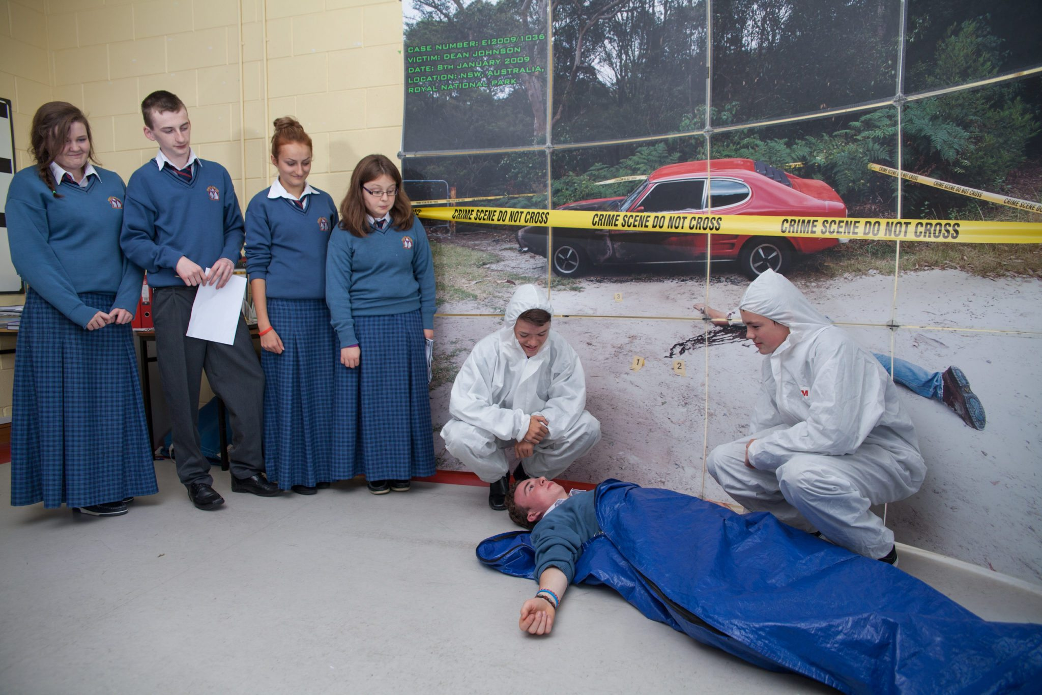 Desmond College Students Participating in Forensic Science Day : 2014 October